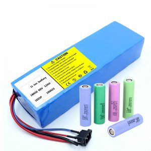 Bateriya lithium 18650 60V 12AH lithium ion packet battery scooter rechargeable