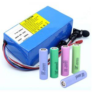 Bateriya Lithium 18650 48V 12AH 48V 500W Bike Bike Baterî ya BMS-ê