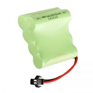 NiMH Baterîka Rechargeable AA2400 6V Amûrên lîstokên elektronîkî yên Rechargeable Battery Pack