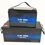 Bateriya Rojê ya LiFePO4 Deep Cycle Battery Ion Lithium 12V 100Ah / 200Ah