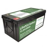 Germkirina firotanê 2.56KWh lifepo4 batteri 12v 200Ah 6000 cycles rv battery