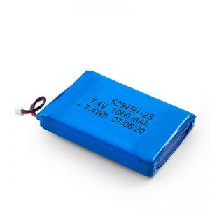 Baterija Karakişte ya LiPO 523450 3.7V 1000mAH / 7.4V 1000mAH / 3.7V 2000mAH
