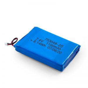 Baterî Daxistin LiPO 753048 3.7V 1100mAh / 7.4V 1100mAH / 3.7V 2200mAH