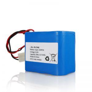 6.4V 12Ah LiFePO4 Lithium 26650 32650 Bateriya Bateriya Bi Têkilî ji bo Ronahiya Rojê